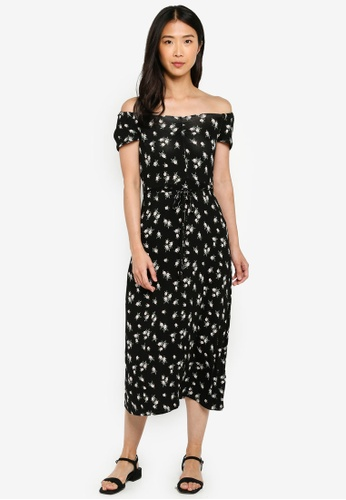 53be025da0d6 Dorothy Perkins black Black Ruched Jersey Midi Dress 7C0A2AA5042B0AGS_1
