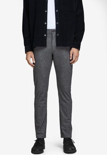 Jack & Jones grey Marco Charles Akm 762 L Grey Sts Pants 390ABAA55B2B07GS_1