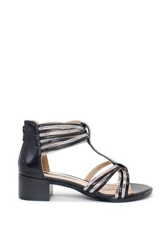 London Rag black Women's Heel Sandals B9784SHEE4574CGS_1