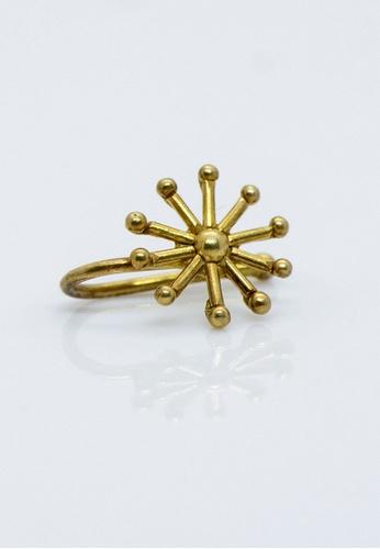 Buy Aadyaa Singapore Nose Pin Itihaas Snowflake Gold Plated