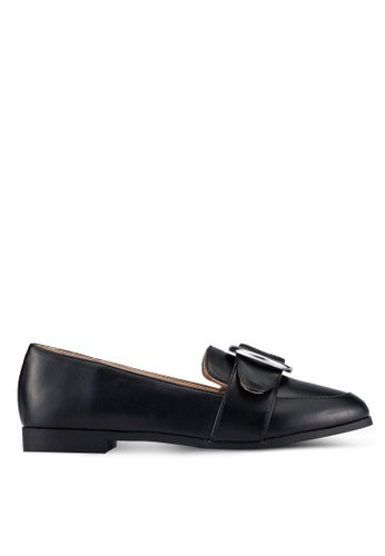 ZALORA black PU Loafers E28A5ZZ3A8BF19GS_1