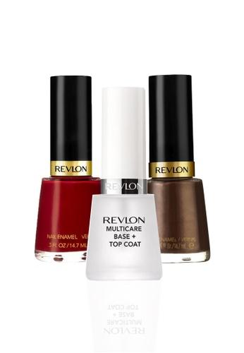 Revlon brown and red REVLON® NAIL ENAMEL SET - Revlon MultiCare Base + Top Coat™ + FOXY + REVLON RED RE737BE08CYDSG_1