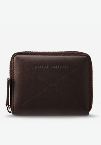 Status Anxiety brown Status Anxiety Darius Wallet - Chocolate 2EEE3AC8599EFCGS_1