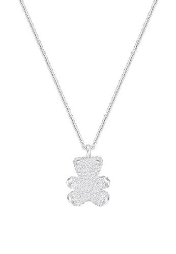 Swarovski silver Teddy 3D Pendant Necklace 33AEEAC04D16FCGS_1