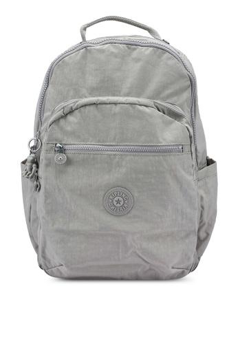 Kipling grey Seoul Grey Gris Backpack 67CA0AC8982D20GS_1