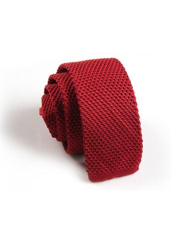 Praise red Maroon Knit Tie PR067AC17SACSG_1