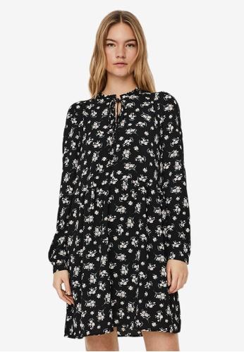 Vero Moda black Saga Long Sleeves Short Dress 78092AA35C6A81GS_1