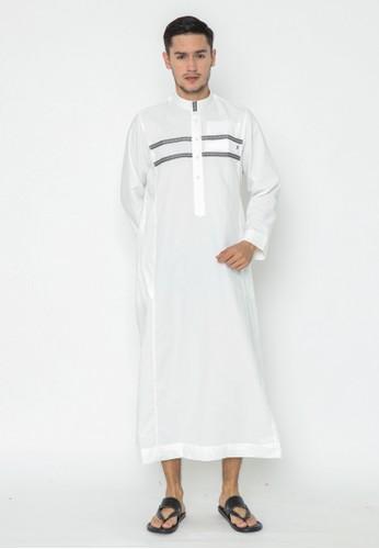 AL-LUTHFI white Jubah Lengan Panjang Habid 467CFAAC3EECF9GS_1