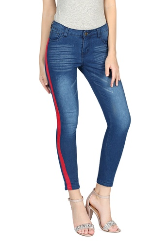 London Rag blue Dark Blue Stretchable Tight Pant 19D9FAAAEE5F4AGS_1