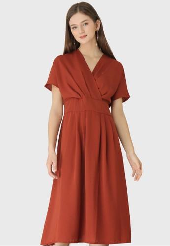 Urban Exchange orange Cecilia Orange Dress 8E2ACAADC70CB0GS_1