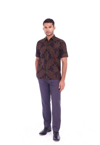 TUSCA black Eusoff Classic Batik Shirt 733DEAA9EC895AGS_1
