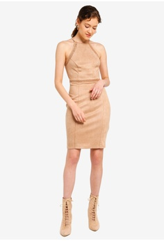 87c657806daac 10% OFF Lipsy Suedette Whipstitch Dress S  142.90 NOW S  128.90 Sizes 8 10  12 14