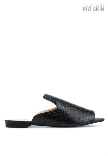 Keddo 黑色 金屬感涼鞋 7BA0ASHA1C1273GS_1