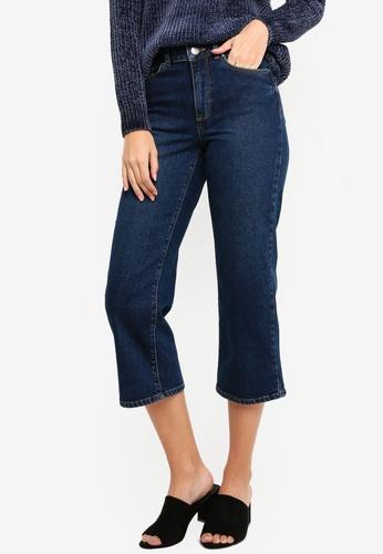Dorothy Perkins 藍色 Indigo Wide Crop Jeans A661CAA5CEE231GS_1