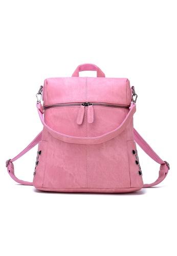 Vince pink European Designed Luxury Women Backpack ( Pink ) VI456AC35AXWMY_1