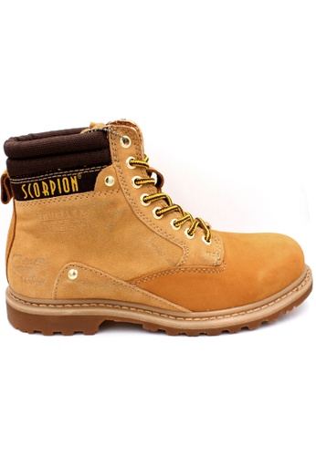 midzone yellow SCORPION Genuine Leather Steel Toe Safety Boots 41F1DSH6086639GS_1