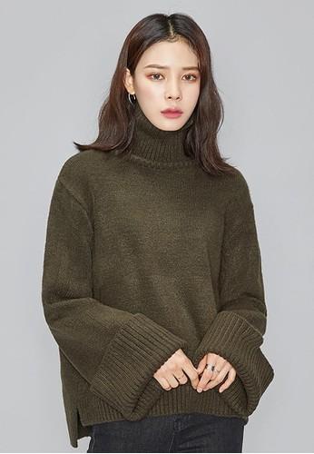 寬袖輕柔高領針織上衣, 服飾, 毛衣esprit hk store& 針織外套