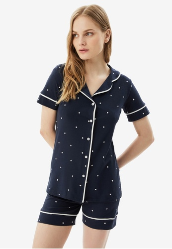 Trendyol 海軍藍色 海軍藍 Pyjamas 66365AA805B6BDGS_1