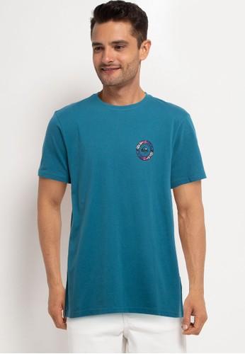 Quiksilver blue Time Circle Short Sleeve Tee Id 2E3D3AA1C1828CGS_1