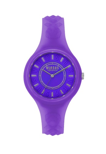 Versus purple Fire Island Jelly Purple Silicone Strap Ladies Watch VE464AC88OUHMY_1