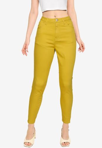 LOWRYS FARM yellow Skinny Pants 588FCAA1CA1668GS_1