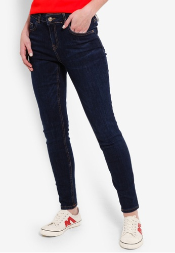 LC Waikiki blue Ankle-Length Skinny Jeans B139BAA903F95AGS_1