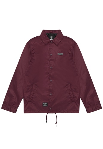 Fingercroxx red Embroidered logo coach jacket 13A4EAAB61EC8AGS_1