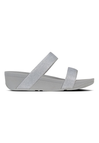 66d2877df Fitflop silver Fitflop Lottie Glitzy Slide (Silver) 6F57DSH82E13A9GS 1