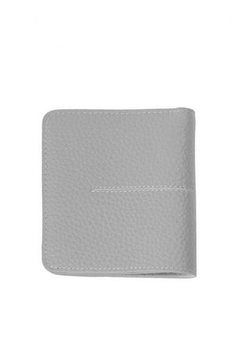 Twenty Eight Shoes grey VANSA New Thin Bi-Fold Cow Leather Wallet VBW-Wt8808 91A65AC3D8F4CFGS_1