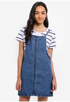 909e832444e Cotton On blue Faith Denim Pinafore Mini Dress B3C88AA8548A0FGS 1