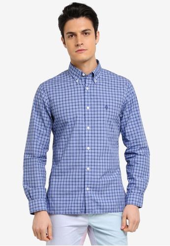 Brooks Brothers 藍色 休閒長袖格紋襯衫 C2981AA79072FBGS_1
