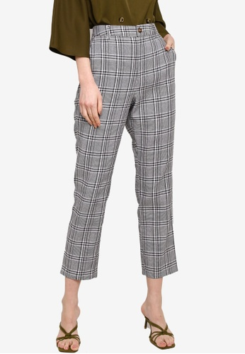 Zalia black Checked tapered pants DF513AA85E1D3EGS_1