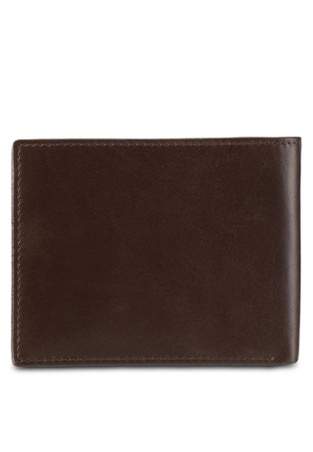 Volkswagen brown Volkswagen Genuine Leather Bi-Fold Wallet VO089AC0SMAUMY_1