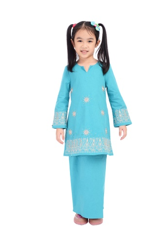 D'YANA blue BAJU KURUNG D'YANA - AVALYN (KIDS) 432A8KA7782818GS_1
