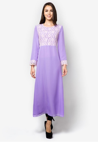 Gene Martino purple Ladies Jubah Full Dress GE222AA83OVSMY_1