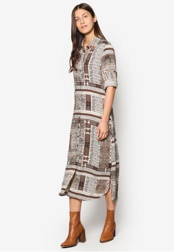 印花直筒襯衫esprit 童裝連身裙, 服飾, 洋裝