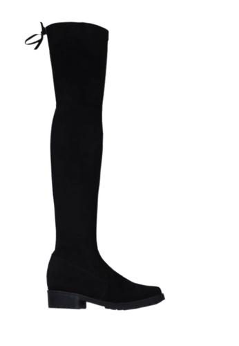 Twenty Eight Shoes black Contoured Low Heel Over Knee Boots VB518 D72CESHF875C96GS_1