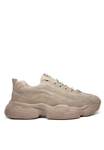 Twenty Eight Shoes Earth Tone  Leather Sneakers MC729 32A87SH6676CE4GS_1