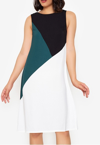 ZALORA WORK multi Basic Triangle Colourblock Dress AABB0AA308D494GS_1