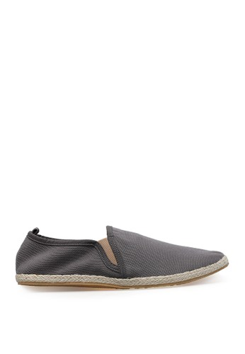 Minarno grey Grey Canvas Slip-On ND125 MI641SH47YCQID_1