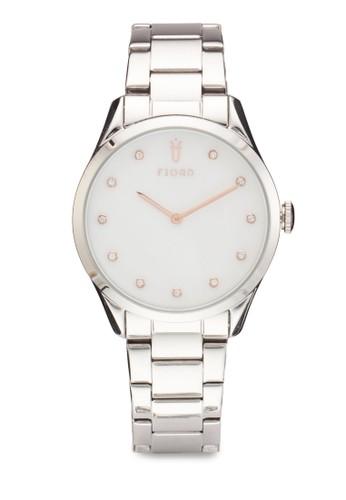 VENDELA 雙指針金屬zalora 鞋評價鍊圓框錶, 錶類, 飾品配件
