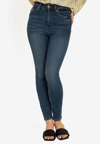 H&M blue Skinny High Jeans A7211AAEBA881CGS_1