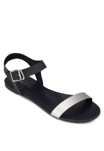 金zalora 折扣碼屬一字帶繞踝平底涼鞋, 女鞋, 涼鞋