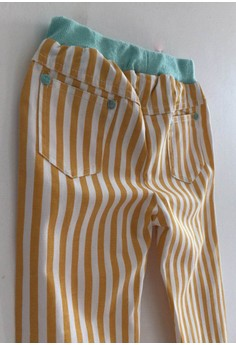 Nautical Striped Pants (in Yellow)
