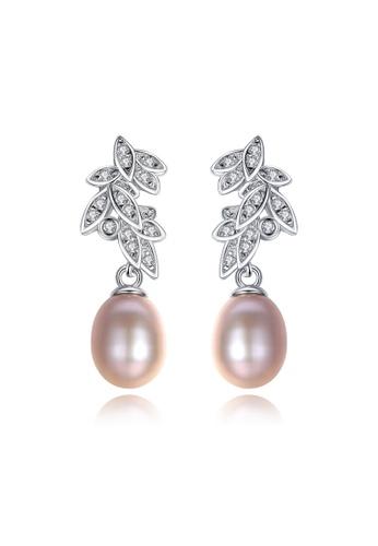 A.Excellence purple Premium Purple Pearl Elegant Earring 95BB0AC44133E7GS_1