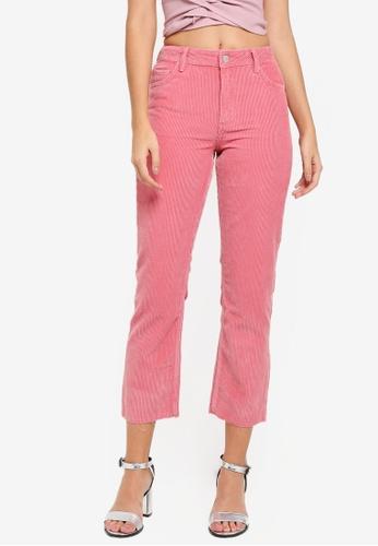 Miss Selfridge 粉紅色 Faye Straight Leg Pink Jeans F557BAAB0F29F3GS_1