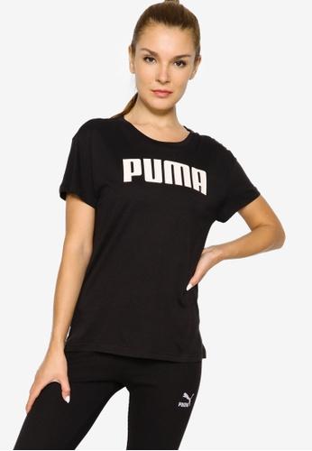 PUMA black RTG Logo Women's Tee EC912AA5342F6FGS_1