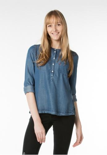 Levi's blue Classic Popover Shirt LE843AA44JIDSG_1