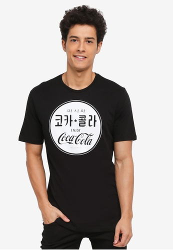 Only & Sons black Coca Cola Vintage Tee 2B128AAE971871GS_1