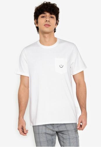 ZALORA BASICS white Smiley T-Shirt 2AB7AAA32C55CAGS_1